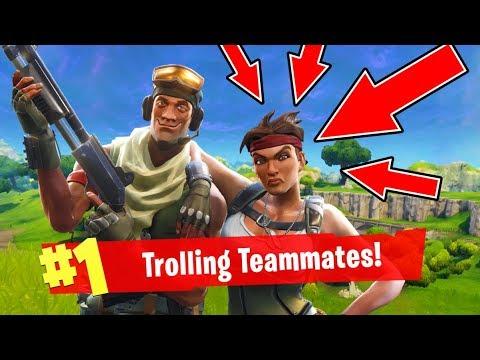 Fortnite Funny Moments Trolling Random Teammates Fortnite Battle Royale