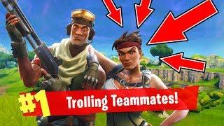 Fortnite Funny Moments: Trolling Random Teammates! (Fortnite Battle Royale)