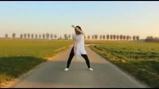 Mobi Cute Indian girl outdoor dance