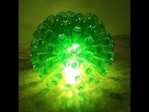 1000 ideas creativas para reciclar botellas de plastico - Como hacer una lampara ...
