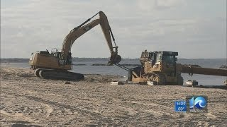 Beach replenishment begins in Willoughby