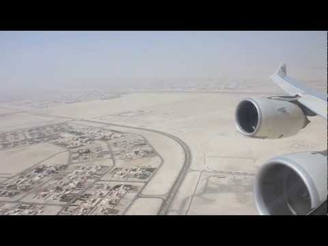 Abu Dhabi to New York on Etihad Airways A340 500 Take Off in the Desert