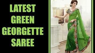 Latest Green Georgette Saree Designs