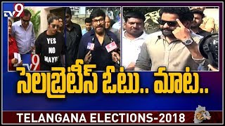 Celebrities and Politicians cast their vote - TV9