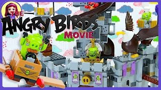 LEGO Angry Birds Movie King Pig's Castle Build Review Silly Play Kids Toys
