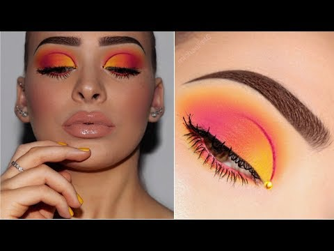 Ombré Half Cut Crease | Sunset Makeup Tutorial