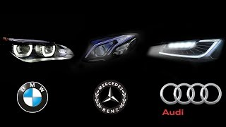 HeadLight Technology - BMW Intelligent Headlight Vs Audi Matrix LED Vs Mercedes Multibeam LED