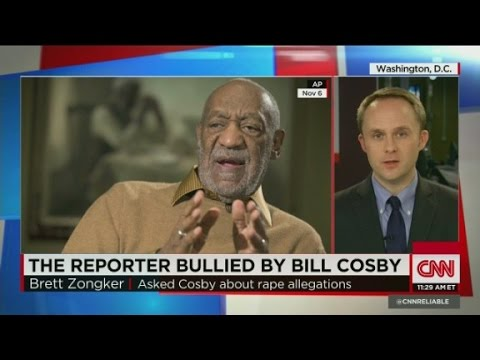 Cosby pressures reporter over question
