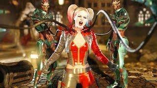 Injustice 2 All Super Moves on Harley Quinn (No HUD) 4K UHD 2160p
