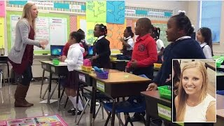 Watch 2nd Grade Teacher Encourage Students Every Morning With Fun Song and Dance