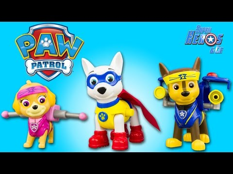 Pat Patrouille Apollo Super Pup Paw Patrol Pup Fu Chase Stella Jouet Toy Review Patrulla Canina