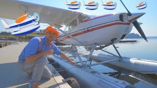 Blippi Flies a Seaplane   Airplanes for Kids and Fun Songs for Toddlers