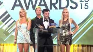2015 XBIZ Awards - James Deen Wins 'Male Performer of the Year' Award