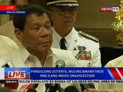 NTVL Press conference of Pres. Duterte