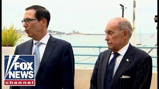 Mnuchin, Kudlow discuss trade from G7 summit