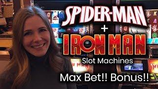 Ironman VS Spider-Man! MAX Bet! Bonus! Nice line hits!