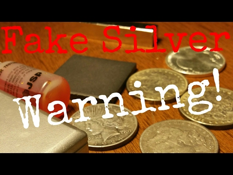 Don't Buy Fake Silver Easy Test For Fake Silver Coins.  How to Test Silver