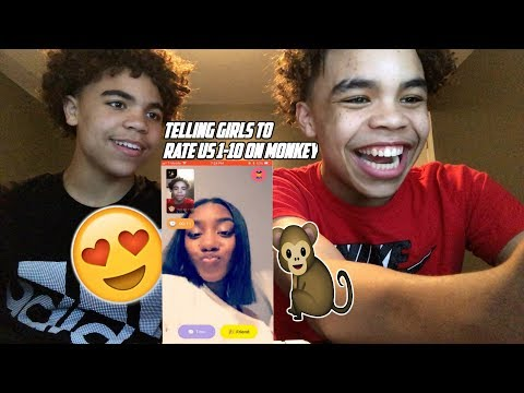 TELLING RANDOM GIRLS TO RATE US 1-10😻 MONKEY APP !! PT. 2 (TWIN EDITION)