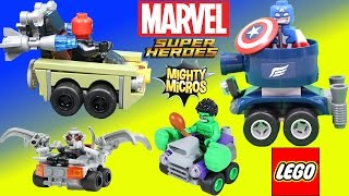Lego Marvel Super Heroes Mighty Micros Captain America vs Red Skull Adventure with Hulk & Ultron!
