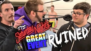 Behind The Scenes HEATED CONFRONTATION Ruins GTS WRESTLING Saturday Nights GREAT MAIN EVENT!