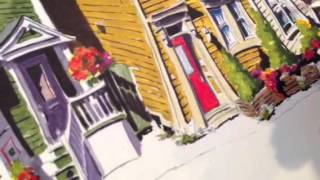 Artist Keli-Ann Pye-Beshara: How I Turn a Blue Door to Red with Acrylic Inks on Paper Part 2