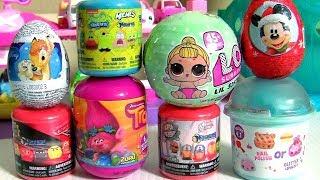 Brinquedos Surpresa Carros3 e Bonecas LOL Surpresa Num_Noms Trolls