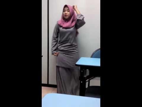 malay girl enjoy in class room dancing