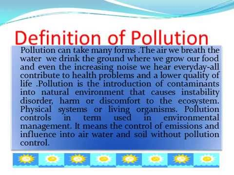 Air pollution - A simple introduction to its causes and