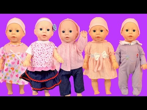 Baby Annabell Baby Dolls put on new clothes How to dress up baby doll toys video