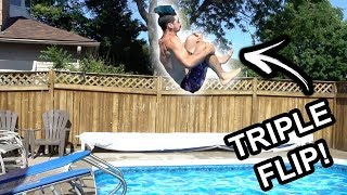 Insane Tricks From Trampoline to Pool Challenge