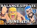 Balance Update June 4th, 2018 (06/04) | Clash Royale 🍊