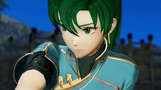 Fire Emblem Warriors - Lyn gameplay while crazy Japanese guy talks リンディス  ファイアーエムブレム無双