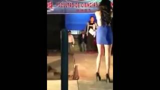 A College Event Girl Has wardrobe malfunction