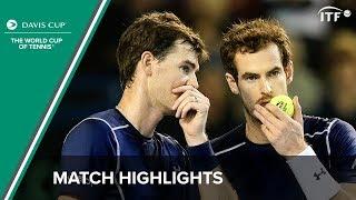 Highlights: Andy Murray/Jamie Murray (GBR) v Juan Martin del Potro/Leonardo Mayer (ARG)