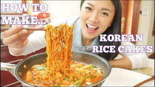 HOW TO MAKE KOREAN SPICY RICE CAKES (*LETS EAT) | SASVlogs