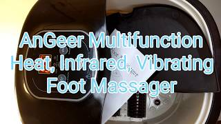 AnGeer Multifunction Heat Infrared Vibrating Foot Massager