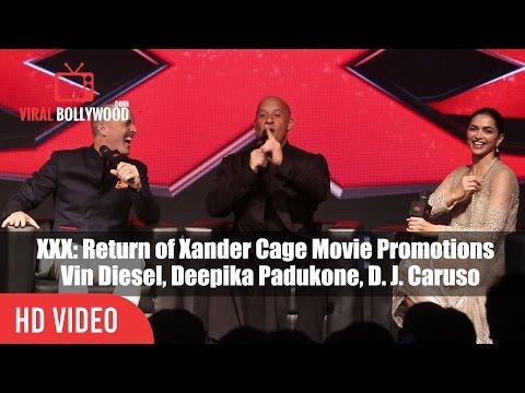 Xxx Mp4 XXX Return Of Xander Cage Movie Promotions In India Vin Diesel Deepika Padukone D J Caruso 3gp Sex