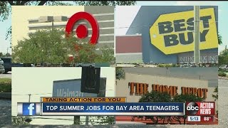 Top part-time jobs and industries for teens this summer