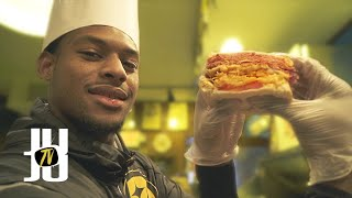 JuJu Smith-Schuster Gets a Job: Sandwiches at Primanti Brothers!