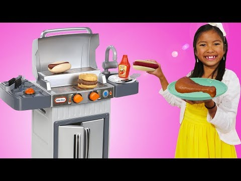 Xxx Mp4 Wendy Pretend Cooking With BBQ Grill Toy 3gp Sex