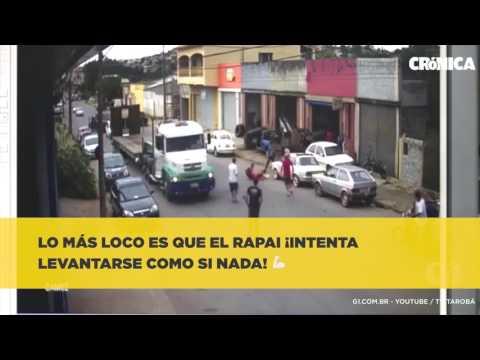 De película ¡increíble accidente de moto en Brasil
