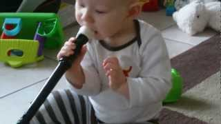 Oliver playin baby sax