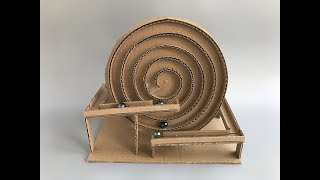 How to make spiral Marble Machine - cardboard toy