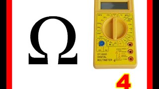 Curso de electrónica uso multímetro ohmios 4