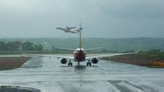 A Beautiful View of Mangalore International Airport (India) Table Top Landing