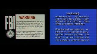 """Warner Home Video FBI/""""SD INTERPOL"""" warnings (2003) (60fps)"""