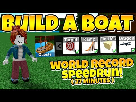 Build a Boat WORLD RECORD SPEEDRUN 💨 100 Completion