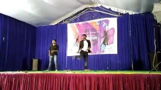 sardaar gabbarsingh dance by naveen and richards in jntu pulivendula