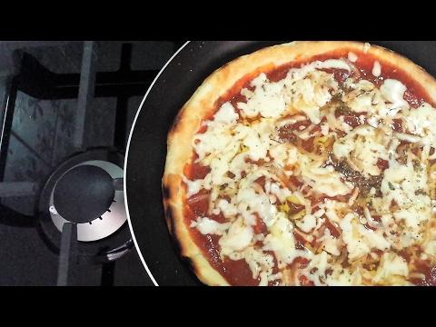 Pizza cotta in Padella senza forno