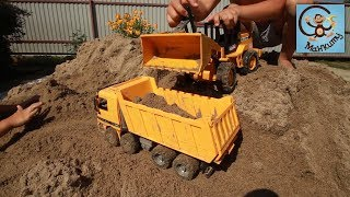 Машинки игрушки, болота и строим бассейн. МанкиТайм